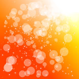 Fond abstrait d'orange de cercle Illustration de Vecteur