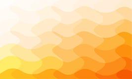 Fond abstrait d'orange de courbe Images libres de droits