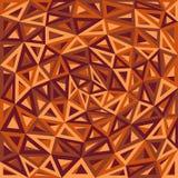 Fond abstrait d'orange de triangles Photos libres de droits