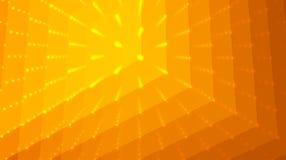 Fond abstrait d'orange de vecteur Matrix des points et des polygones avec l'illusion de la profondeur et de la perspective illustration stock