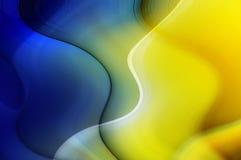 Fond abstrait dans des sons bleus et jaunes Image libre de droits