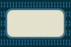 Fond abstrait dans le bleu avec l'ornement et le bloc rectangulaire avec l'espace de copie pour le texte illustration libre de droits