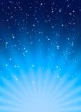 Fond abstrait dans le style bleu de l'espace Images stock