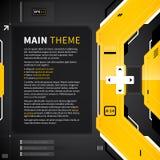 Fond abstrait dans le type de techno Utile pour le web design et la publicité Image stock