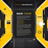 Fond abstrait dans le type de techno Utile pour le web design et la publicité Photo libre de droits