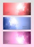 Fond abstrait de bannière d'affaires d'aquarelle Photo stock