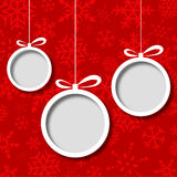 Fond abstrait de billes de Noël Photographie stock