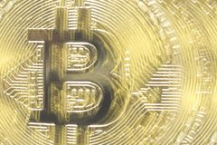 Fond abstrait de bitcoin d'or Devise de Digital images libres de droits