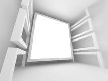 Fond abstrait de blanc d'architecture de Digital illustration libre de droits