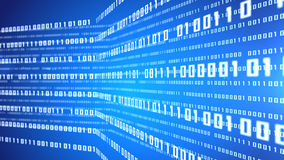 Fond abstrait de bleu de code binaire Images stock
