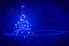 Fond abstrait de bleu de Noël de l'hiver Photo libre de droits