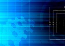 Fond abstrait de bleu de technologie. Photo libre de droits