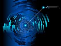 Fond abstrait de bleu de technologie illustration libre de droits