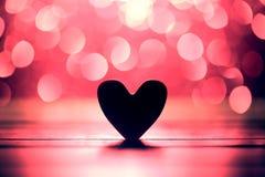 Fond abstrait de bokeh de coeur et de rose images libres de droits