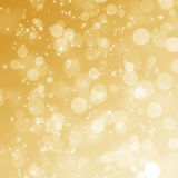 Fond abstrait de bokeh d'or Image stock