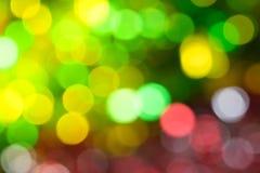 Fond abstrait de bokeh d'arbre de Noël Images libres de droits