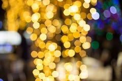 Fond abstrait de bokeh de Christmaslight Images libres de droits