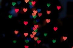 Fond abstrait de bokeh de coeur, fond de jour du ` s de Valentine Photographie stock