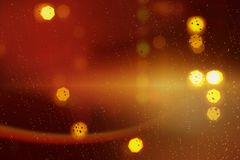 fond abstrait de bokeh de l'éclat d'or de lumière fait à partir du mouvement de bokeh images libres de droits
