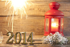 fond abstrait de 2014 bonnes années Image libre de droits