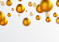 Fond abstrait de boules d'or illustration de vecteur