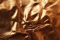 Fond abstrait de brocard d'or Photographie stock