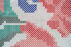 Fond abstrait de broderie croisée de point Images stock