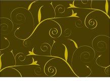 Fond abstrait de Brown et d'or illustration stock