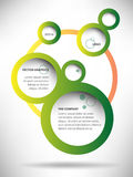 Fond abstrait de bulle de web design de vecteur Image stock