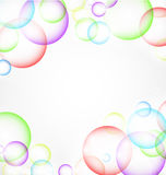 Fond abstrait de bulles Photo stock