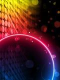 Fond abstrait de cadre de cercle de disco Photographie stock libre de droits