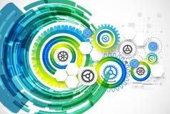 Fond abstrait de calibre d'affaires de technologie