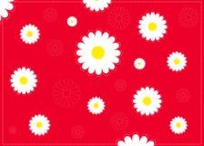 Fond abstrait de camomille Image libre de droits