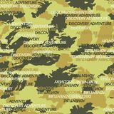 Fond abstrait de camouflage avec le texte illustration de vecteur