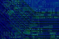 Fond abstrait de carte PCB Images libres de droits