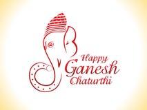 Fond abstrait de chaturthi de ganesha Image libre de droits