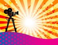 Fond abstrait de cinéma Image libre de droits