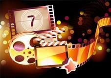 Fond abstrait de cinéma Images libres de droits