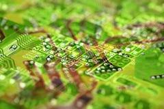 Fond abstrait de circuit électronique Photos libres de droits