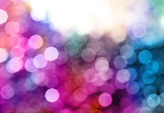 Fond abstrait de clignotement de tache floue de lumières Orientation molle Photo stock