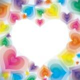 Fond abstrait de coeur illustration de vecteur
