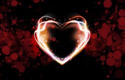 Fond abstrait de coeur Photos libres de droits