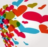 Fond abstrait de coeur Illustration Libre de Droits