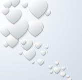 Fond abstrait de coeur Photo libre de droits