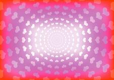 Fond abstrait de coeur Image libre de droits