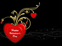 Fond abstrait de coeur de Valentine Illustration Libre de Droits