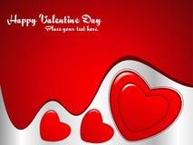 Fond abstrait de coeur de Valentine Illustration Stock