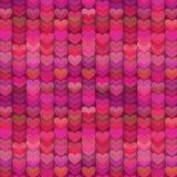 Fond abstrait de coeurs en Rich Shades de rose illustration stock
