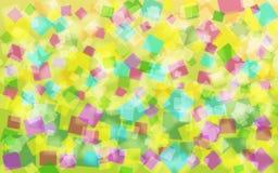 Fond abstrait de colorfull et de sqare Images libres de droits