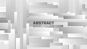 Fond abstrait de composition en rectangle avec le métal de gamme de gris illustration stock
